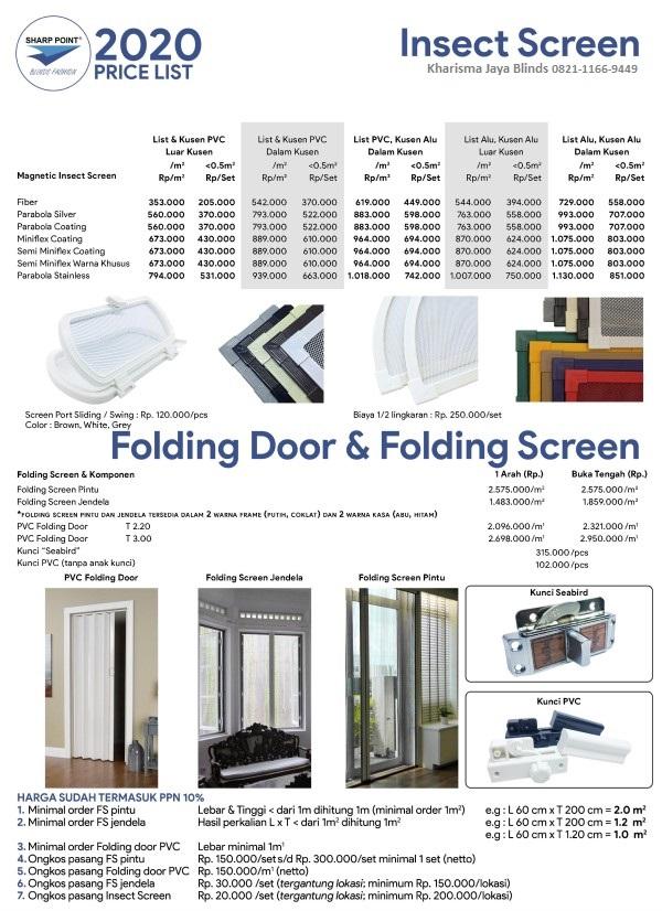 Harga Folding Door