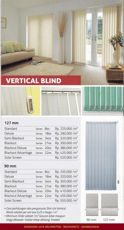 Price List VERTICAL BLIND SHINICHI